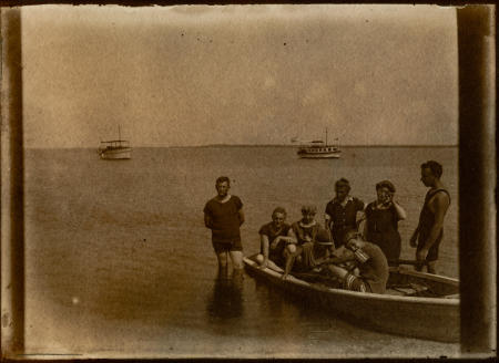 skiff with unidentified personnel